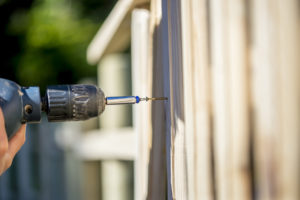this picture shows installation in orangevale fence for sacramento fence pros project