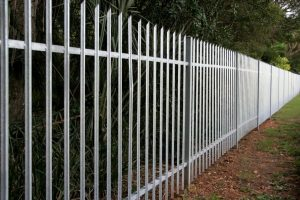 this image shows pvc fence installation