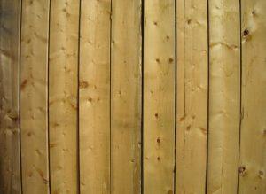 this image shows Douglas fir fence in Sacramento, California