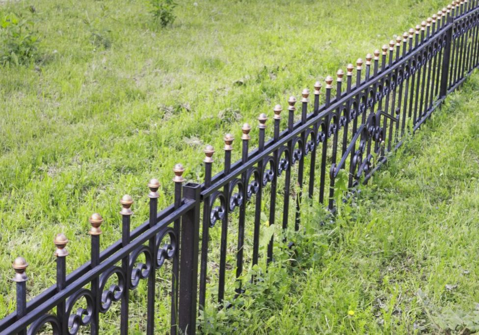 this picture shows sacramento fence pros wrought iron fence installation natomas metal fence